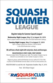 Squash Summer League